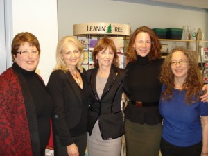 Signing at Turn the Page and pictured here with Robin Kaye, Nora Roberts/J.D. Robb, Alyson Richman and Laura Florand.